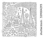 vector fantasy landscape. fairy ... | Shutterstock .eps vector #539004295