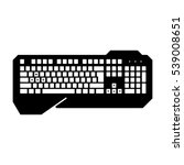 gaming keyboard | Shutterstock .eps vector #539008651