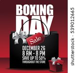 boxing day sale shopping... | Shutterstock .eps vector #539012665