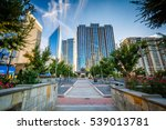walkway and modern buildings...   Shutterstock . vector #539013781