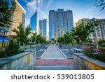 walkway and modern buildings...   Shutterstock . vector #539013805