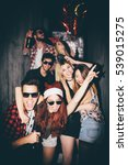 group of friends at club having ... | Shutterstock . vector #539015275