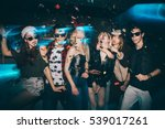 group of friends at club having ... | Shutterstock . vector #539017261