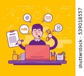man clerk or male personal... | Shutterstock .eps vector #539018557