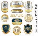 premium and luxury golden retro ... | Shutterstock .eps vector #539019241