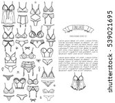 hand drawn doodle lingerie icon ... | Shutterstock .eps vector #539021695