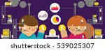 customer and client research.... | Shutterstock .eps vector #539025307