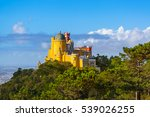 pena palace in sintra  ... | Shutterstock . vector #539026255