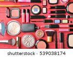 set of decorative cosmetics on... | Shutterstock . vector #539038174