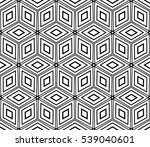 cyclical pattern of geometric... | Shutterstock . vector #539040601