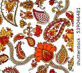 seamless pattern with fantasy... | Shutterstock .eps vector #539046481