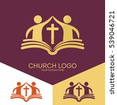 Church Logo. Christian Symbols...