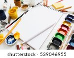 bright workplace of creative... | Shutterstock . vector #539046955