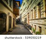 empty street. old city street...   Shutterstock . vector #539050219
