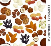 nut  bean  seed and grain... | Shutterstock .eps vector #539053555