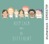 cute women with different... | Shutterstock .eps vector #539053759