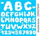 cloud abc. cloud font | Shutterstock .eps vector #539057845