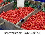 cherry tomatoes in a wooden... | Shutterstock . vector #539060161