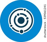 vector solar system icon | Shutterstock .eps vector #539061241