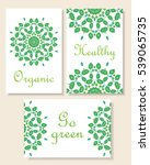 card design. set of beautiful... | Shutterstock .eps vector #539065735