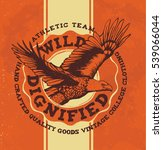 college eagle. vintage tee... | Shutterstock .eps vector #539066044