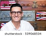 portrait of a smiling young man ... | Shutterstock . vector #539068534