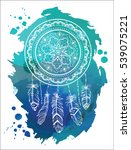 dreamcatcher with arrow and... | Shutterstock .eps vector #539075221