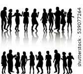 vector  set the crowd of... | Shutterstock .eps vector #539077264