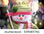 Happy Snowman On Christmas Tim...