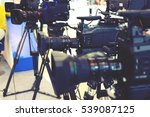 video camera while filming | Shutterstock . vector #539087125