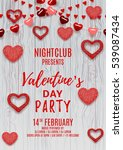 happy valentine's day party... | Shutterstock .eps vector #539087434