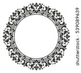 decorative line art frames for... | Shutterstock .eps vector #539089639