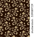 floral pattern. wallpaper... | Shutterstock .eps vector #539089729
