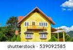 charming yellow house and a... | Shutterstock . vector #539092585