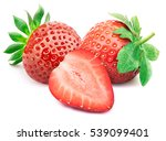 perfectly retouched strawberry... | Shutterstock . vector #539099401