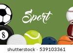 football soccer pool golf... | Shutterstock .eps vector #539103361