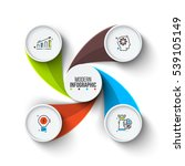 business data visualization.... | Shutterstock .eps vector #539105149