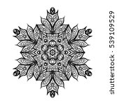 vector beautiful deco mandala ... | Shutterstock .eps vector #539109529