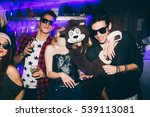 group of friends at club having ... | Shutterstock . vector #539113081