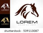 Stock vector horse logo vector 539113087