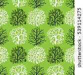 seamless pattern with cute... | Shutterstock . vector #539114275