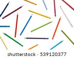 colorful pencils pattern... | Shutterstock . vector #539120377