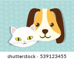 dog and cat pet related icon...   Shutterstock .eps vector #539123455