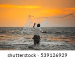 Fisherman Throws His Net....