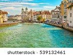 lucerne  switzerland  ... | Shutterstock . vector #539132461