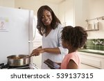 mother and daughter at home...   Shutterstock . vector #539137315