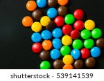 chocolate colorful on black... | Shutterstock . vector #539141539