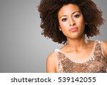 young black woman standing | Shutterstock . vector #539142055
