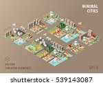 set of isolated isometric... | Shutterstock .eps vector #539143087