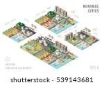 set of isolated isometric... | Shutterstock .eps vector #539143681